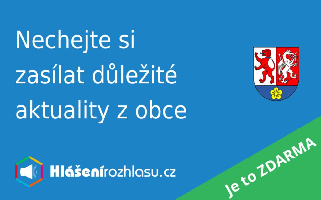 Banner Nechte si zasílat důležité aktuality z obce odkazující na HlášeníRozhlasu.cz